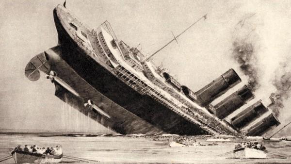 lusitaina-sinking